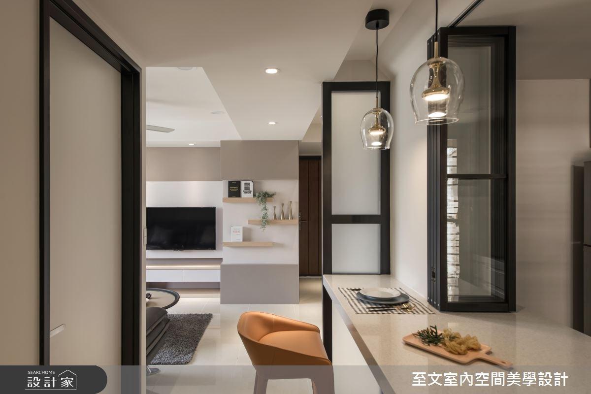 餐廳、廚房這樣設計省坪數!通透俐落的19坪簡約宅