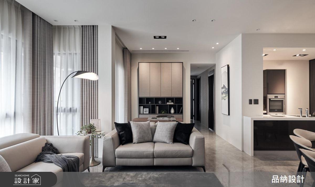 40坪現代風居家,高雅客廳X機能廚房一次滿足!