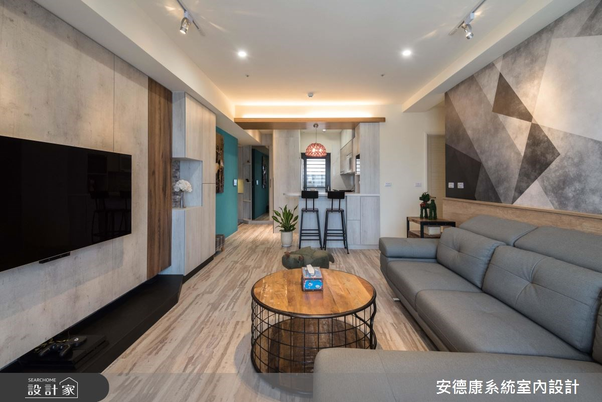 黑白幾何漸層混搭,擺脫系統家具刻板印象!