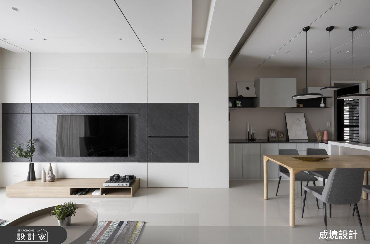 純淨、溫柔、有型!獻給小家庭的現代風格宅俐落登場