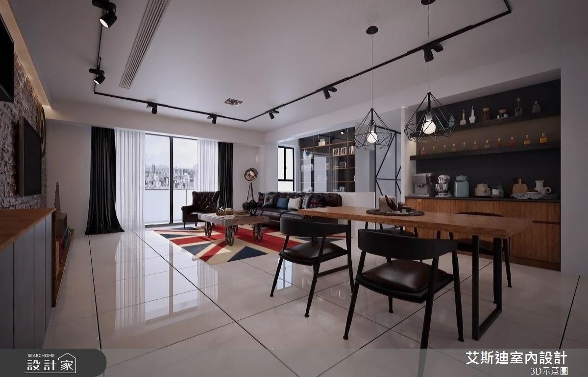 50坪實用系有型住宅!系統家具翻玩復古工業風