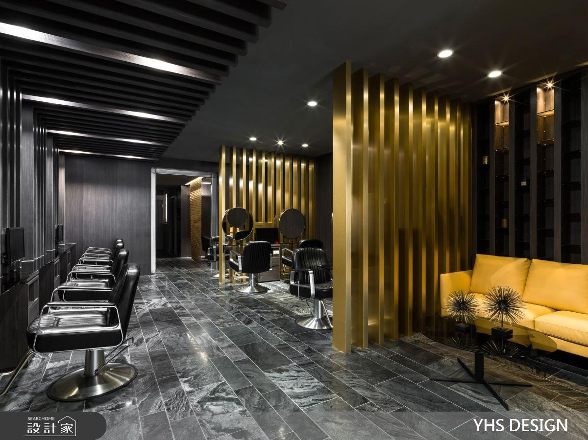 走進時尚髮廊,看見木格柵、大理石、金屬的趣味混搭!