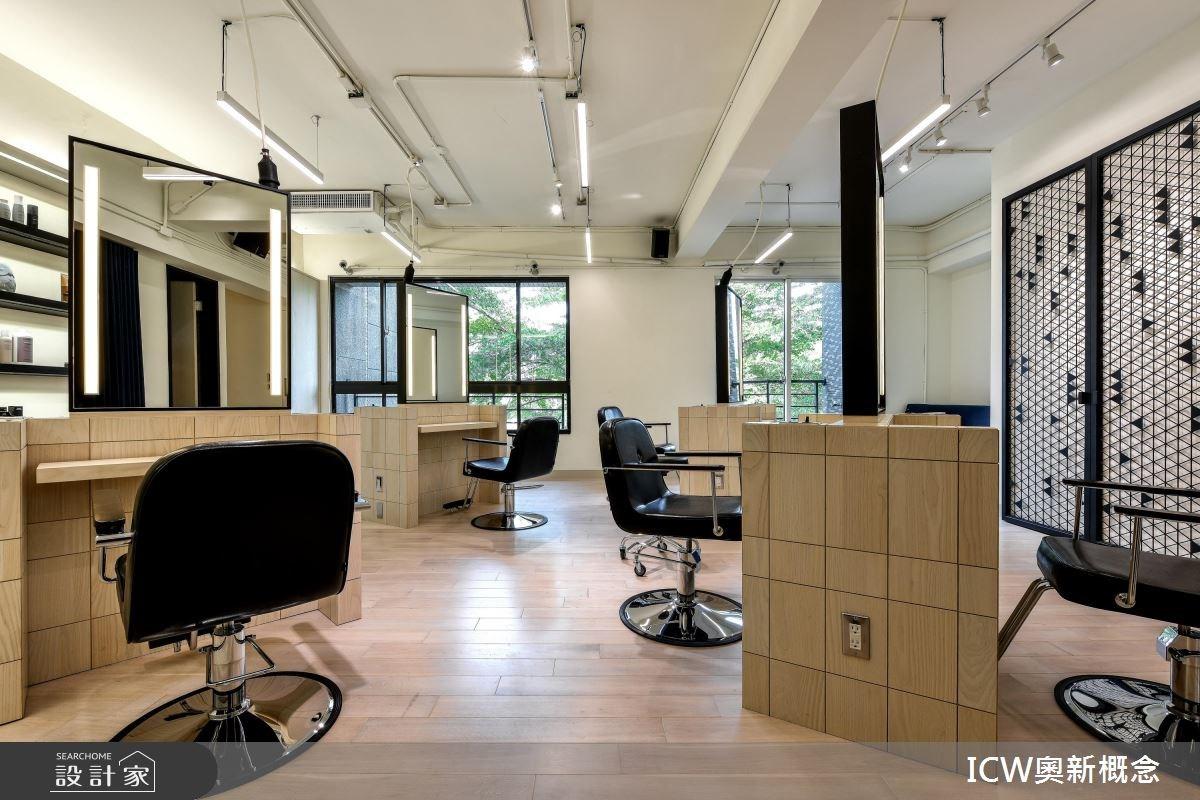 25坪活動式創意髮廊!展現木意與鐵件的簡約之美