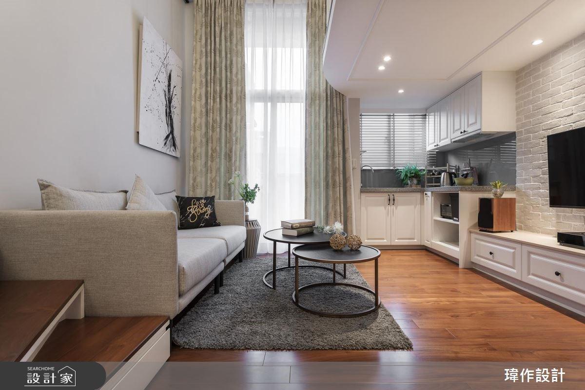 13 坪的美式風樓中樓,老屋翻新變身單身小豪宅