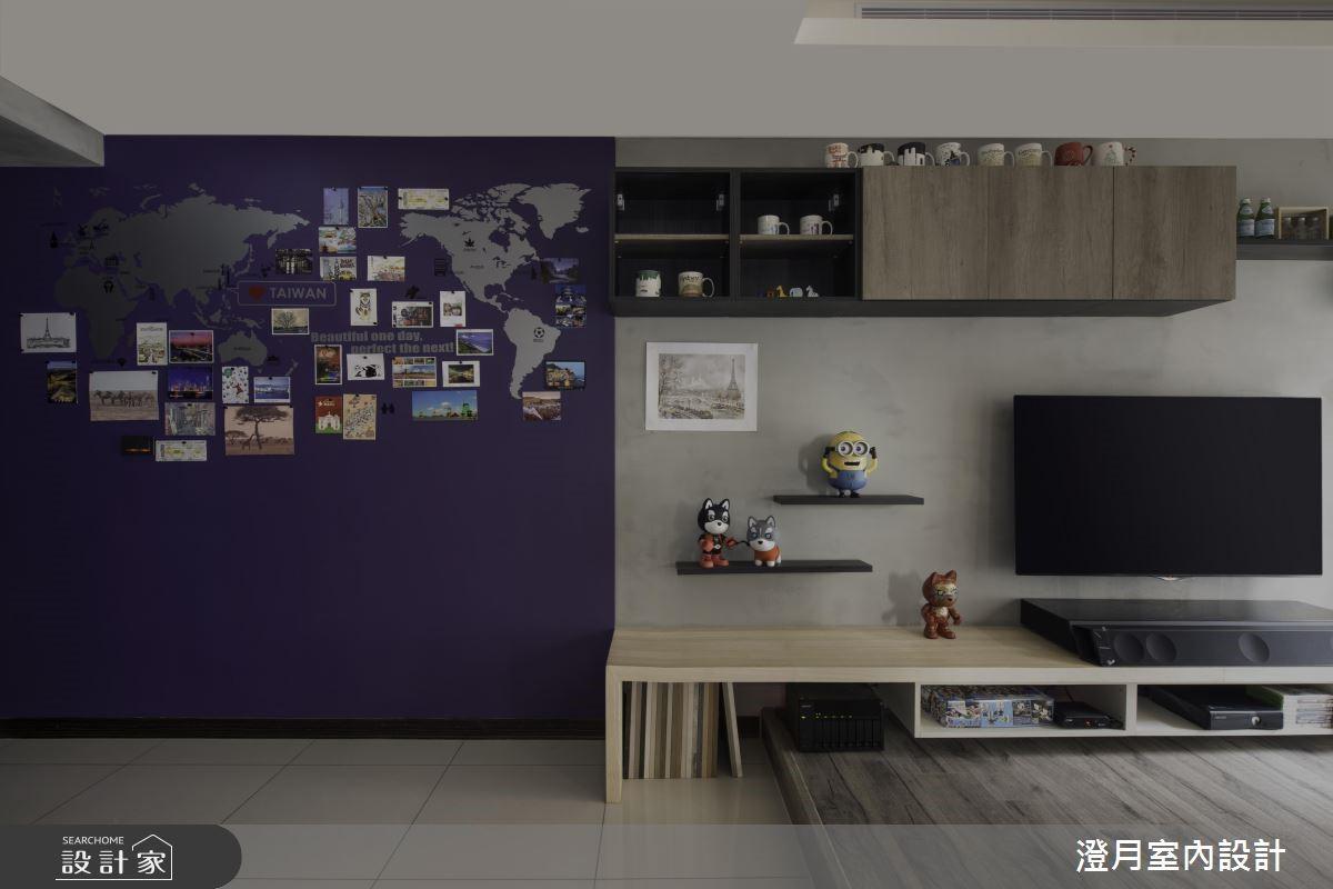 大中島X展示書牆 與愛犬宅在家的工業風家屋