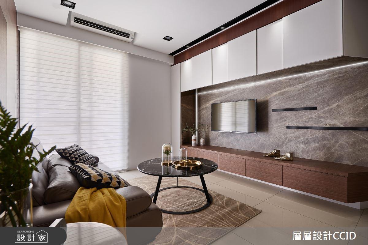 穩重木搭時尚白!打造耐看型現代小豪宅