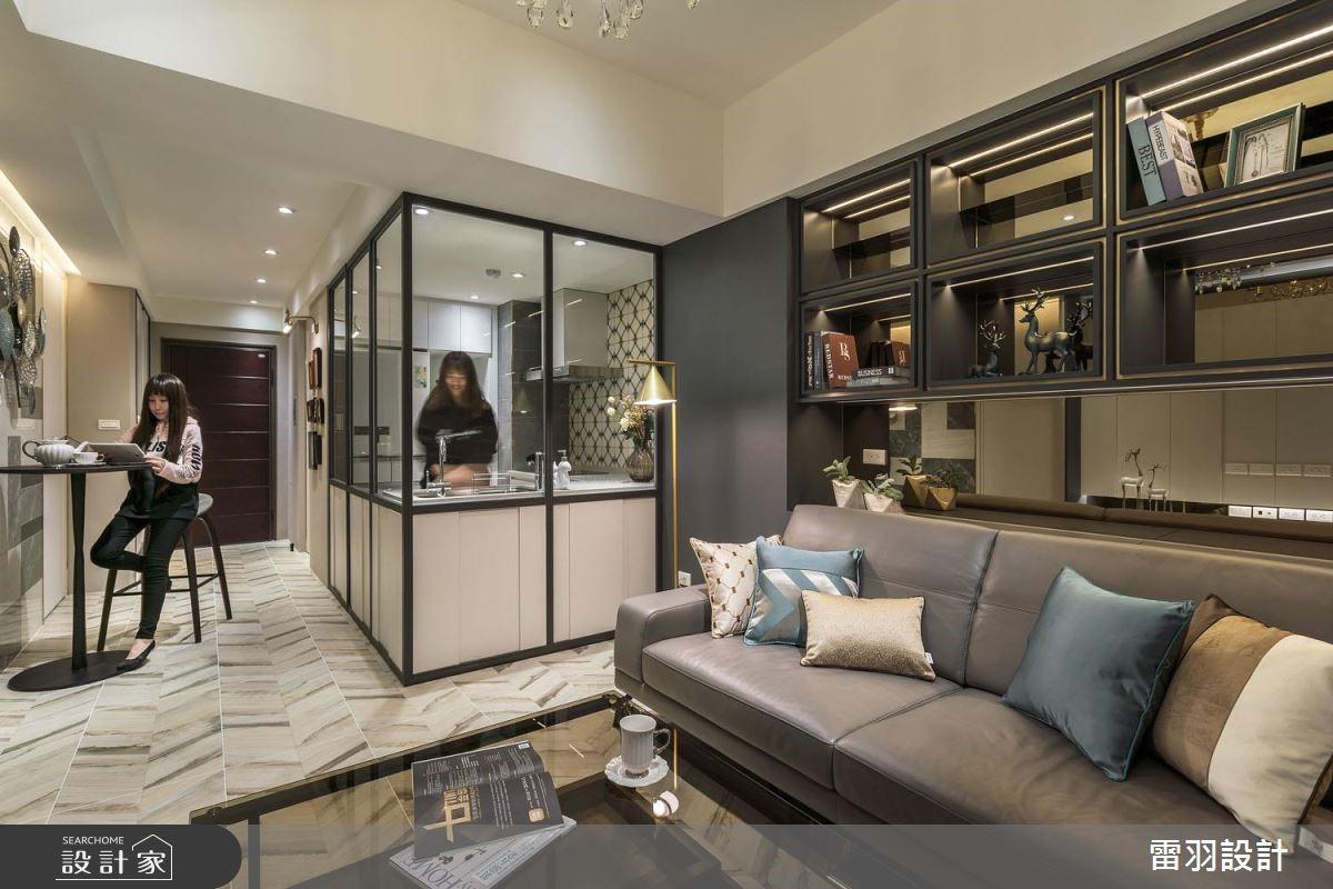 把家化為奢華風藝廊!17 坪中古屋華麗變身小豪宅