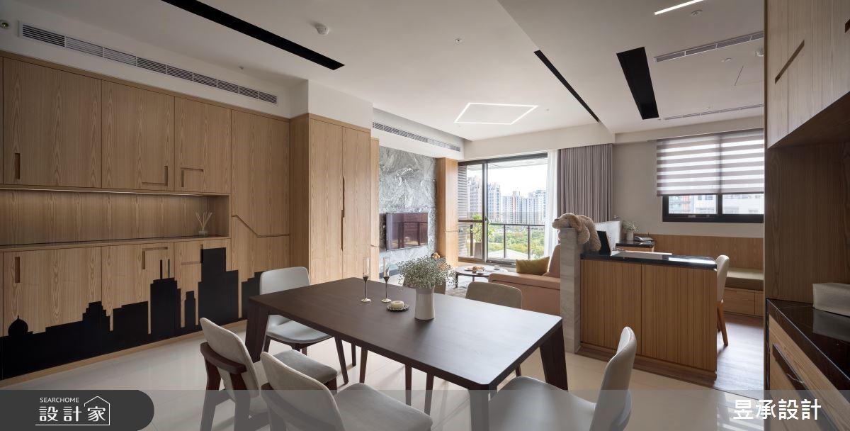 家裡處處有驚喜!揉合異材質與創意細節的溫馨現代宅
