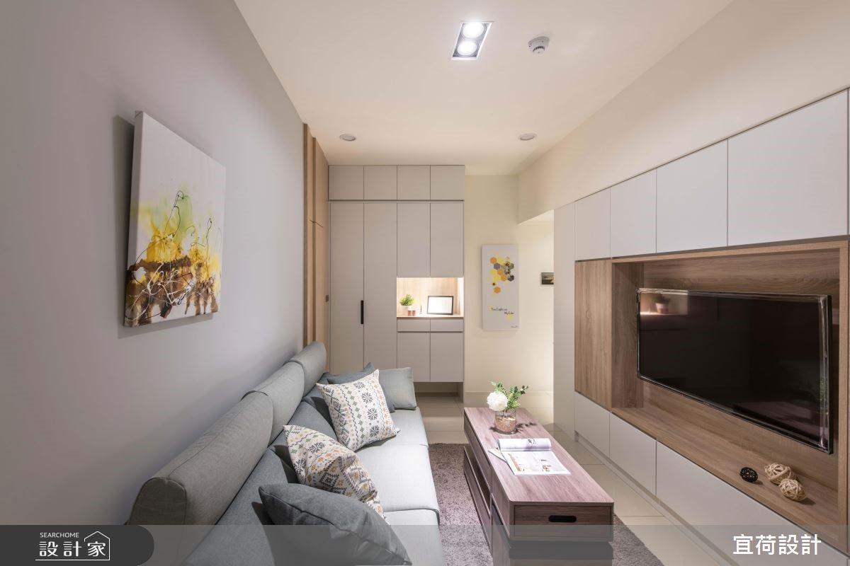 創意系統收納的空間放大術 完成簡約風新婚小宅