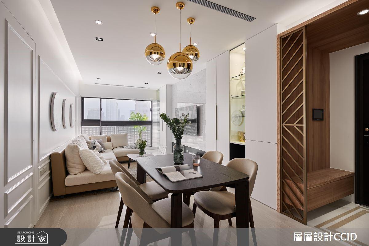 跟韓劇歐爸在家中對戲!點綴金色幾何的純白現代宅