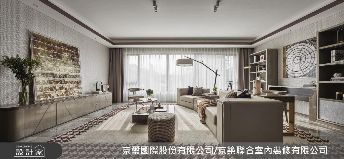 現代貴族的長安宅邸!「金」喜不絕的大地色居家豪宅設計