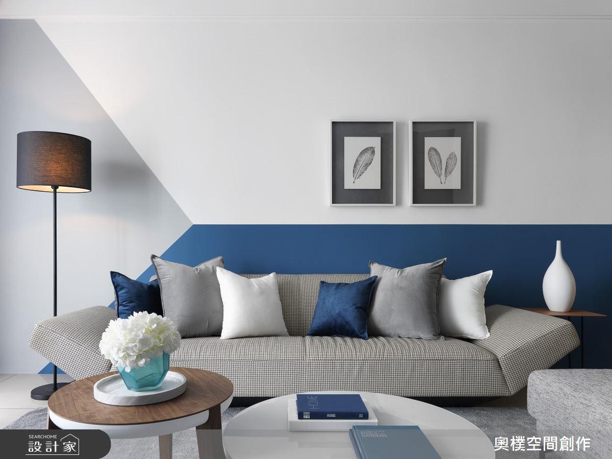 年輕情侶的藍白現代宅!前衛、活潑、有溫度