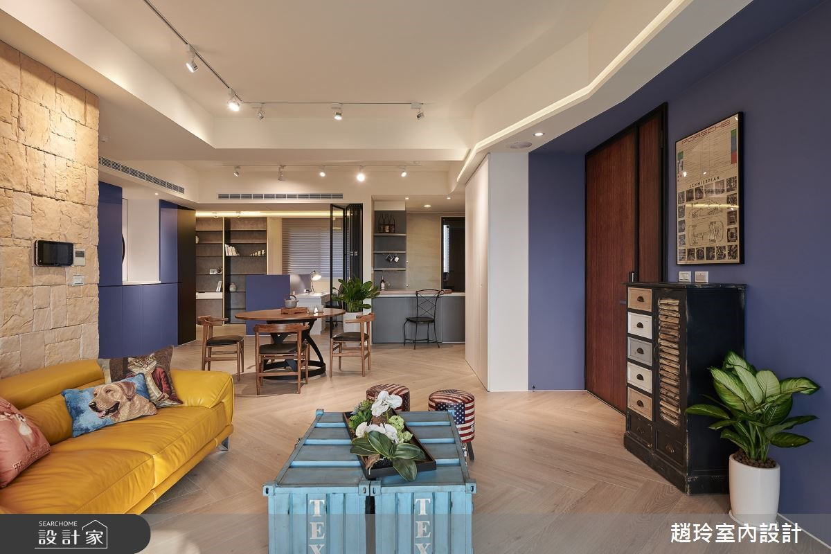 美式住宅坐擁超強收納!一個收納櫃,兩個空間用!