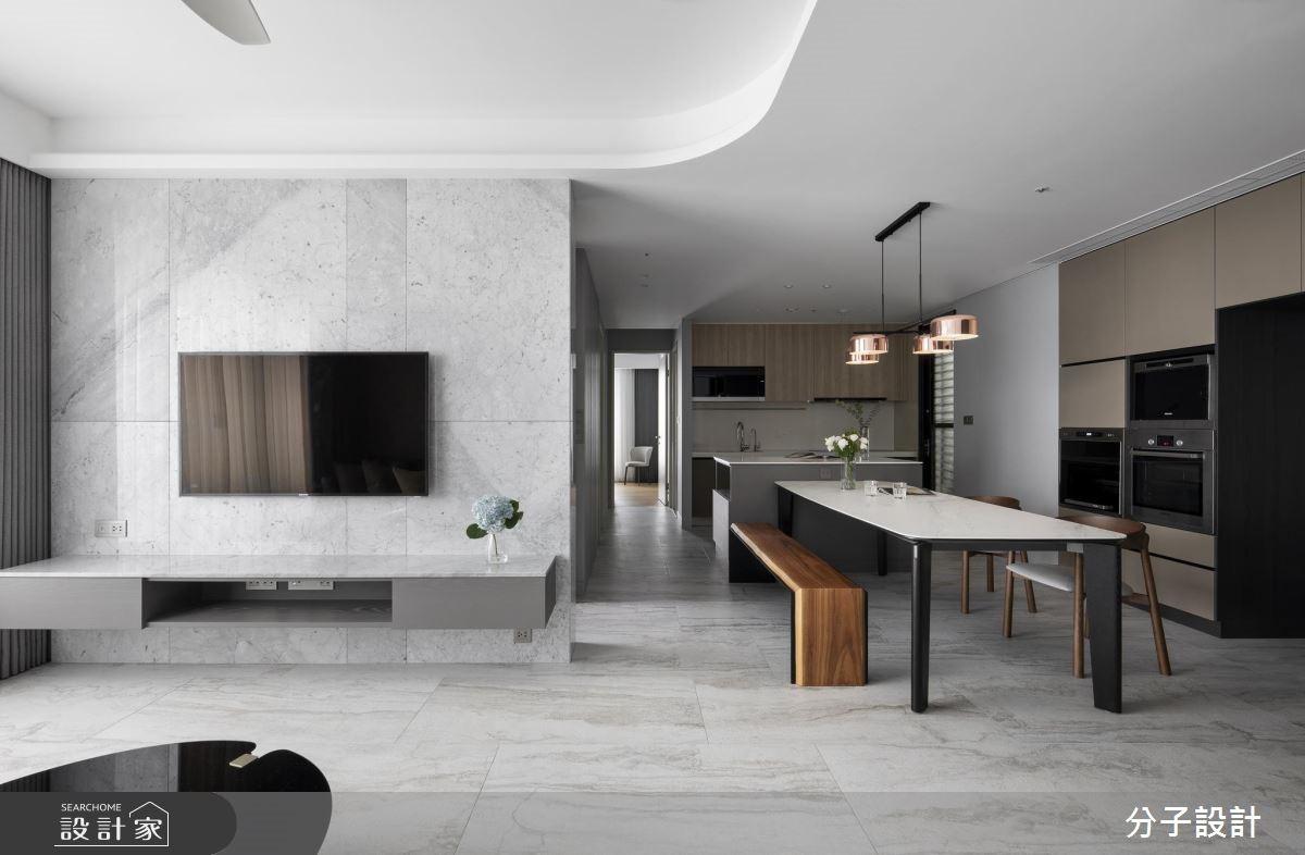 好感度激增的現代風私宅!質感灰X開放廚房X流暢動線