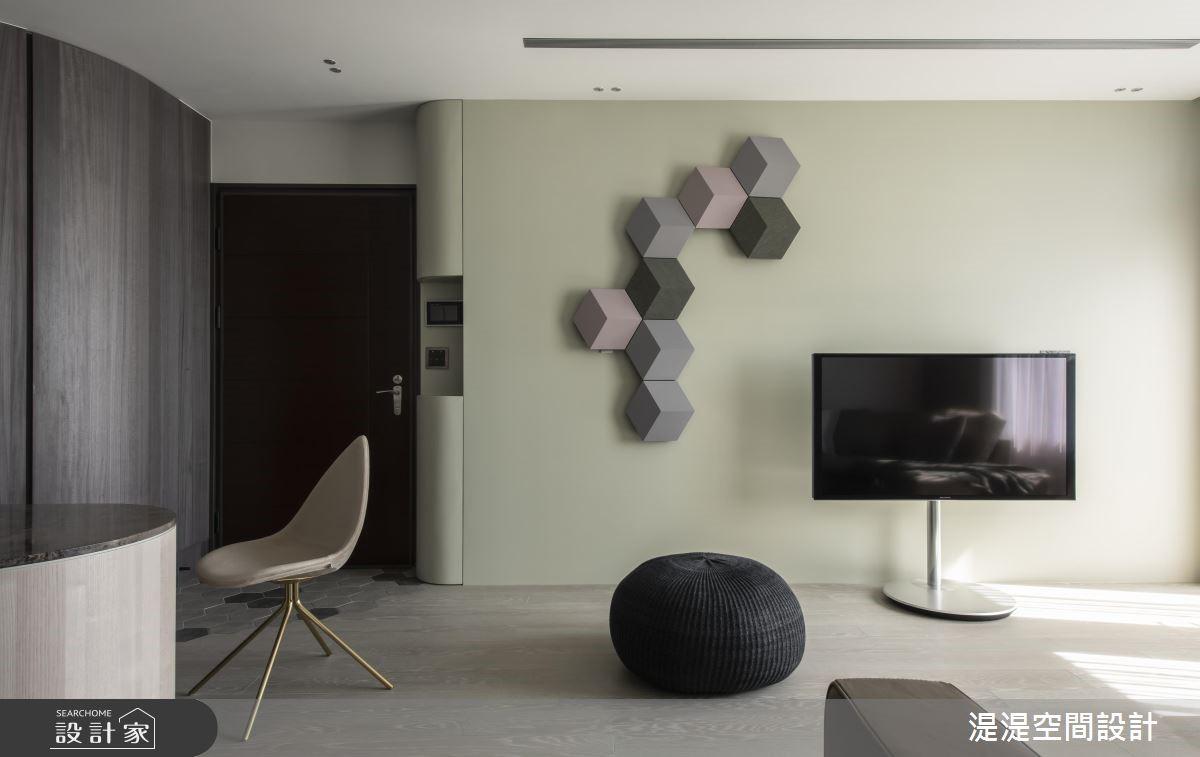 運用弧線延伸力,勾勒現代風住宅的美好視野