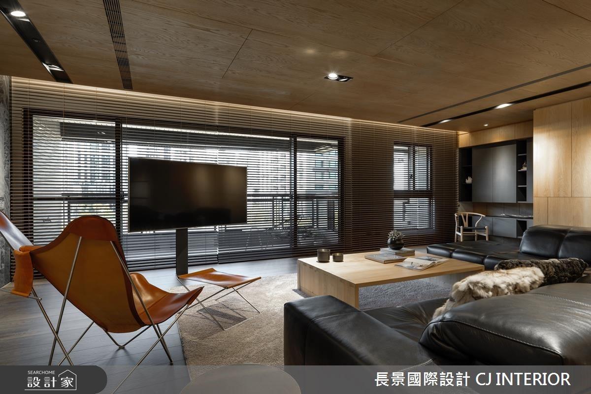 景觀結合電視牆!開創百坪大宅的美好視野
