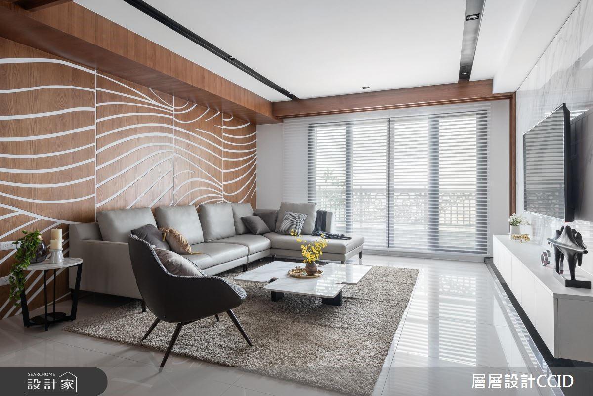 80 坪現代風大宅!打造一面會律動的沙發牆