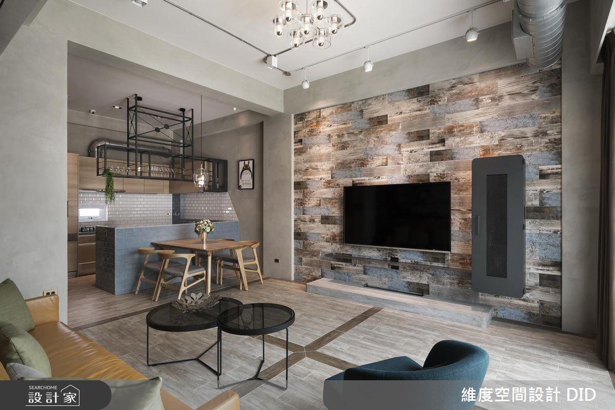 Loft與鄉村風特調!木紋與磚牆交織溫暖古樸味私宅