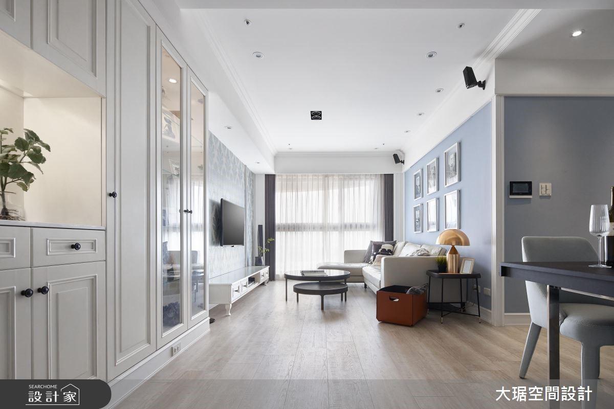 28 坪美式風極品居家!描繪灰藍色的時尚新視角