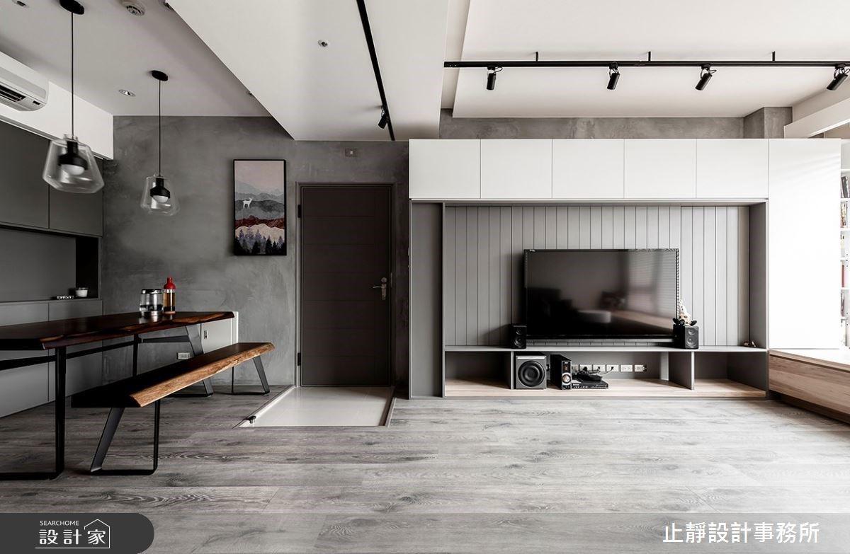 隱藏式美學 X 低彩度配色!打造簡潔舒適工業宅