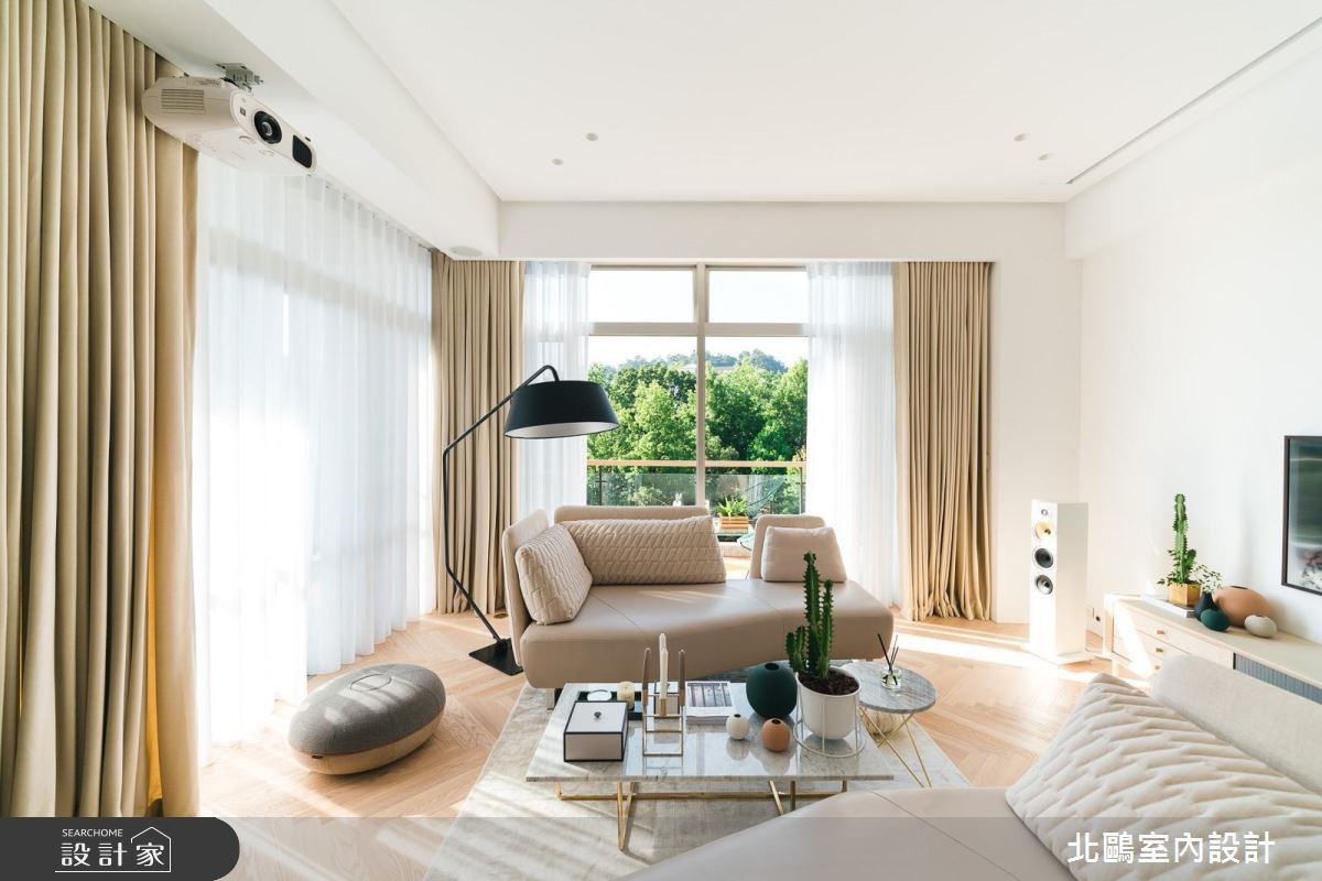 家具陳設增添生活的想像,磁磚計畫、最大化保留採光讓北歐風永續深刻