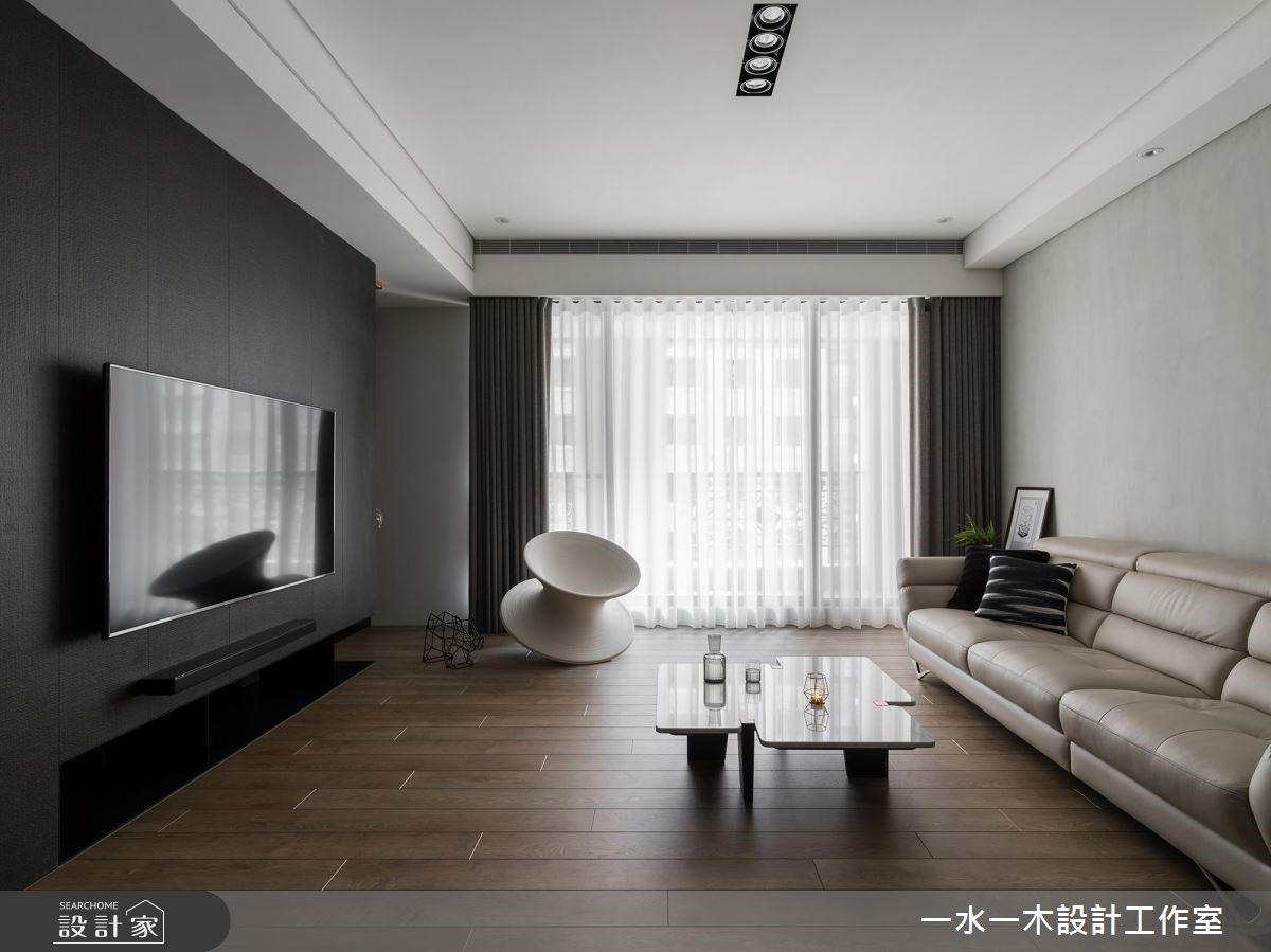 穿透內心的光感 溫暖39坪黑白灰的簡單俐落