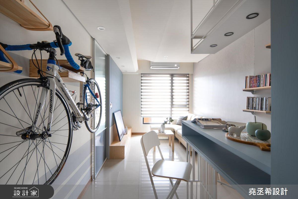 與愛駒同居!懸掛式收納設計 17坪空間放上腳踏車還綽綽有餘