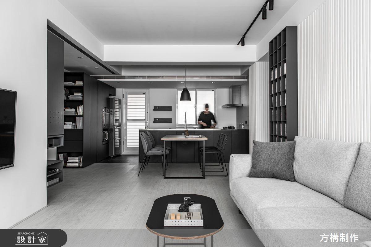 黑白灰冷調現代宅,展現都會型男的文藝氣息