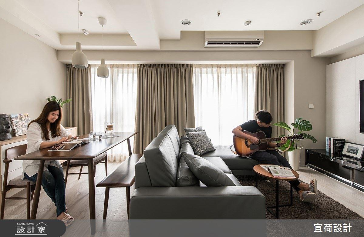 靠著窗聽你彈吉他!22 坪自然感居家包容我們的不一樣