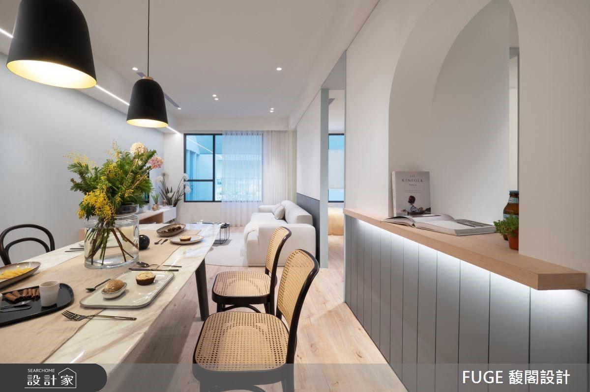 清新現代風家居,小戶宅也能擁有大坪數的寬敞舒適