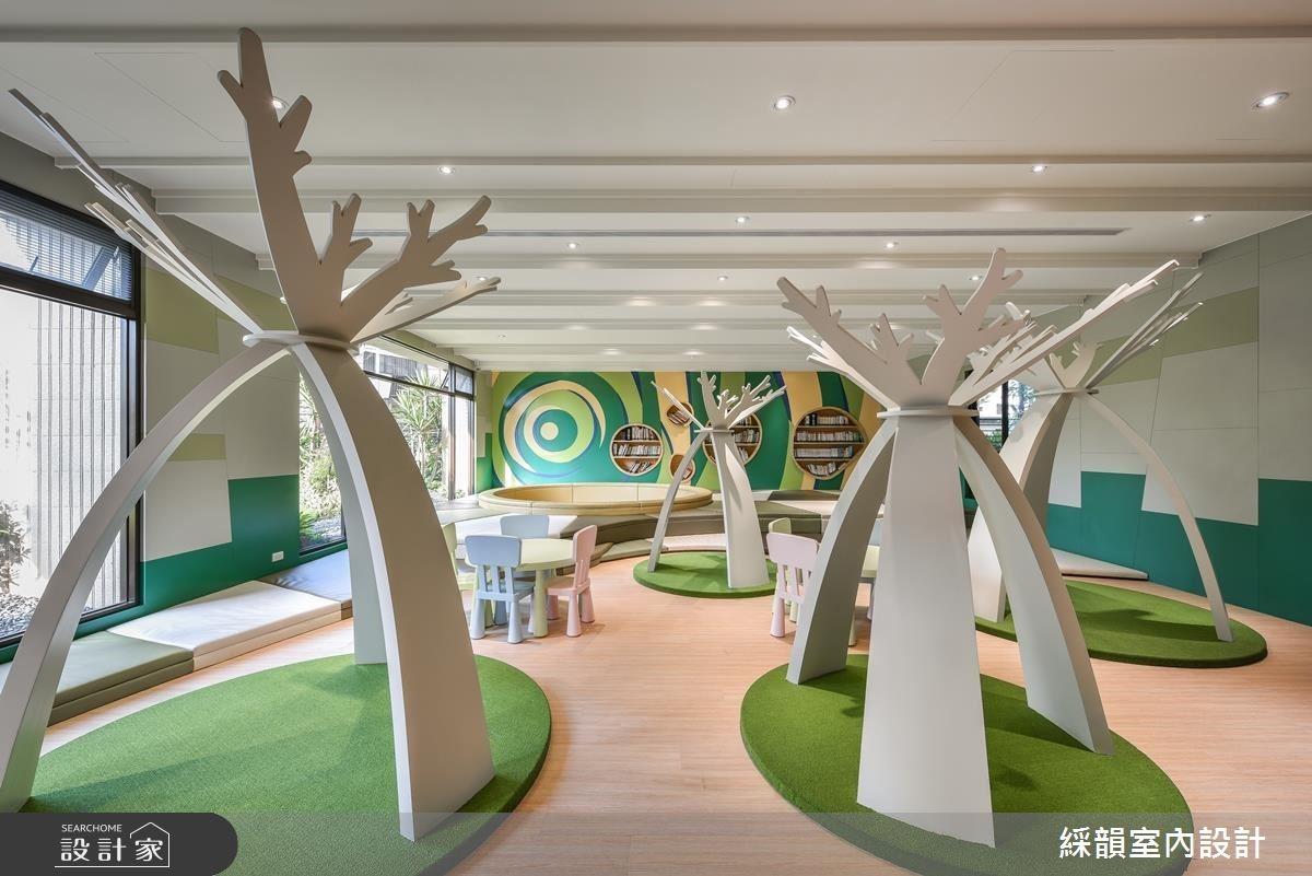 兒童遊戲室有座森林?綠意盎然的繽紛童趣空間