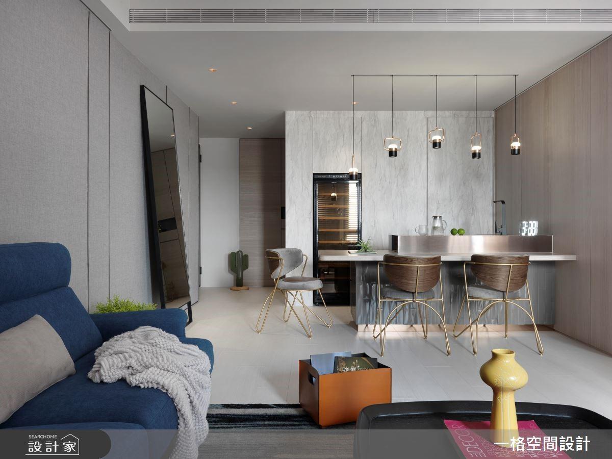 YouTuber 冰蹦拉的家!用鮮明色彩 + 金屬質感打造輕奢華網美風