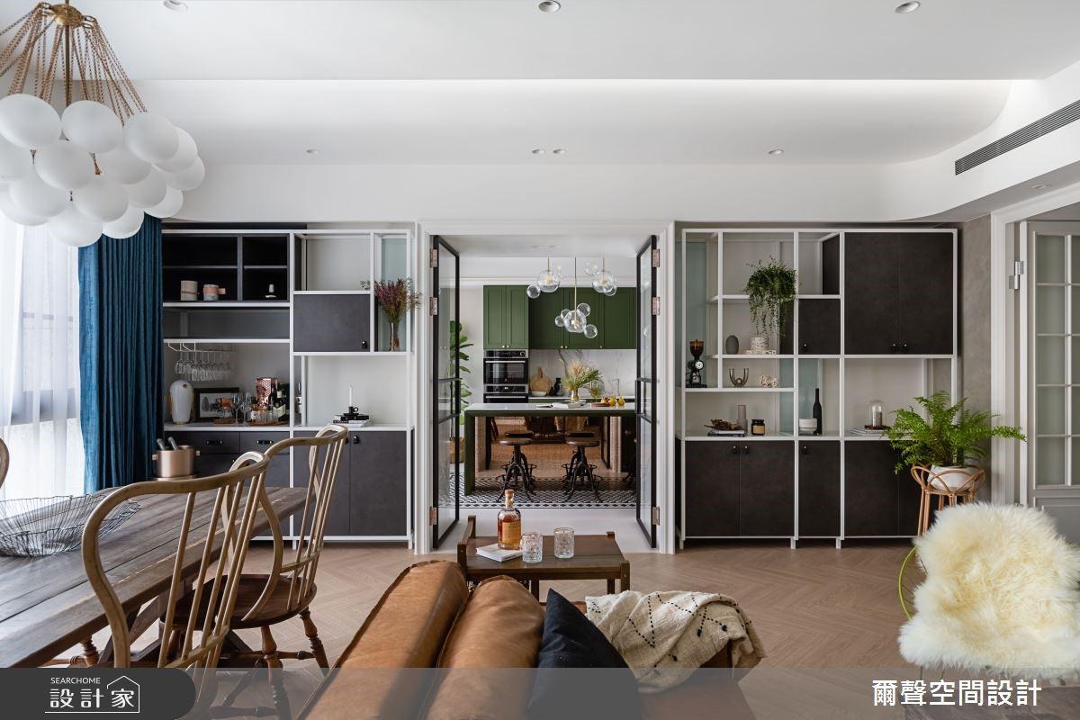 實木餐桌、橄欖綠、花磚打造絕美場景,旅英屋主的40坪英倫復古風家居