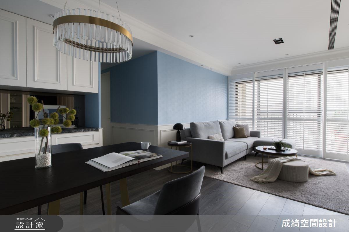 隱藏設計為長輩拜訪做準備!美式風小豪宅挹注藍白優雅質感