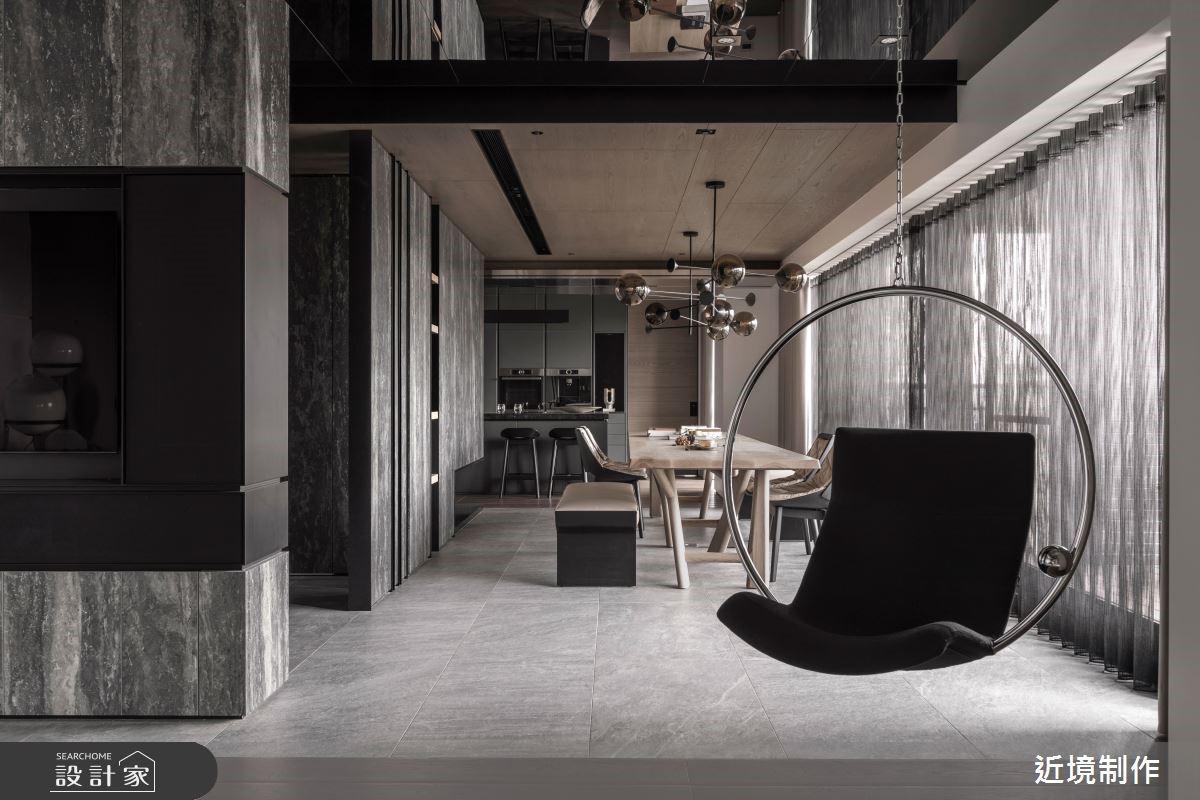 豐富材質與突破性的格局規劃,展現精采的空間張力