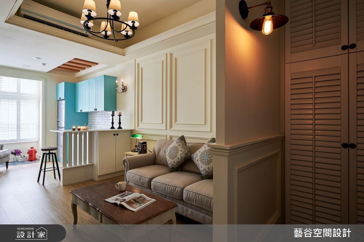 12 坪單身女子宅,鄉村風混搭 Tiffany 藍打造夢幻公主系廚房