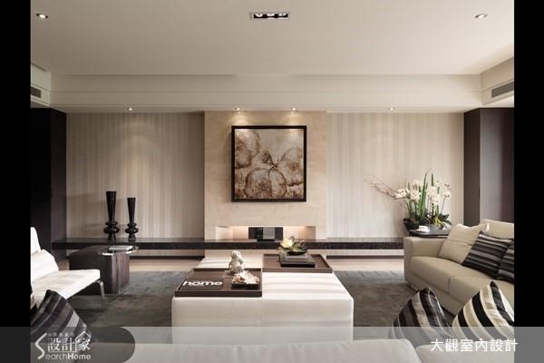 擁抱綠意 45 坪現代宅,大地色系的優雅品味
