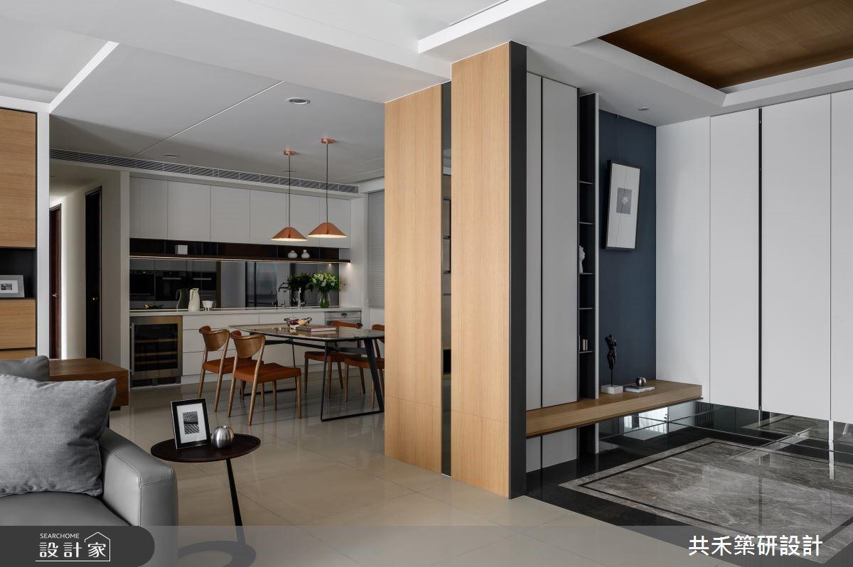 收納即是美好端景!純白、木質、莫蘭迪色系敘寫 58 坪現代風豪宅
