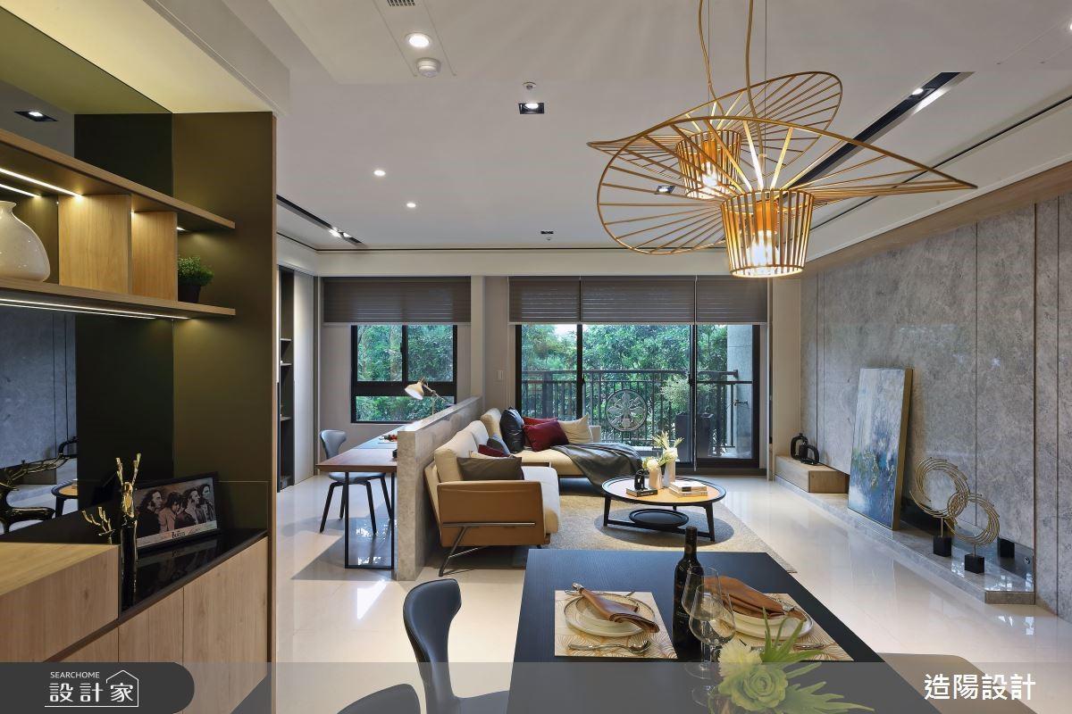 運用材質提升空間的精緻度,量身訂製三代同堂的精緻人文風格家居