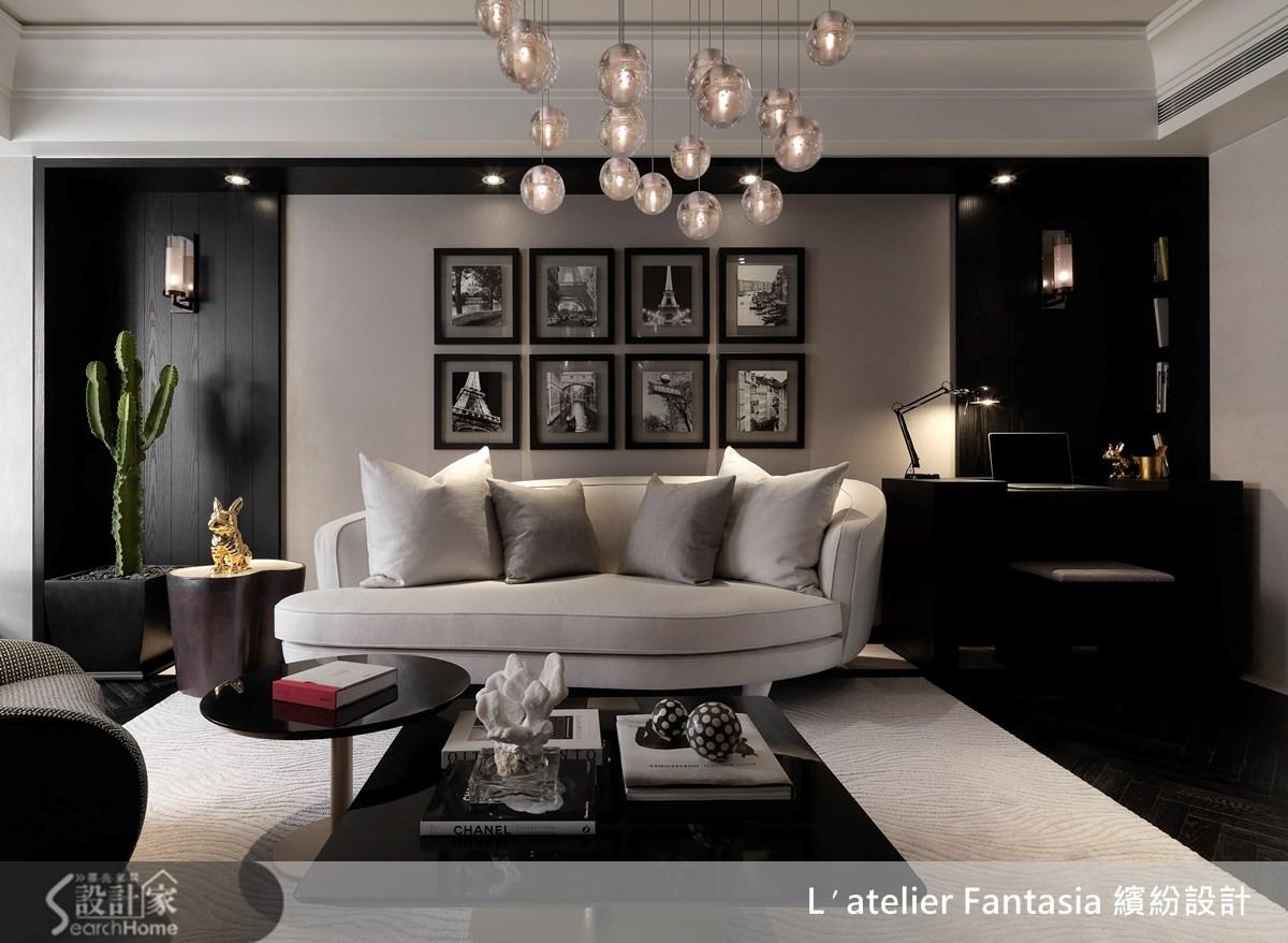 19坪新古典小豪宅,灰黑白詮釋香奈兒風的時尚靈魂
