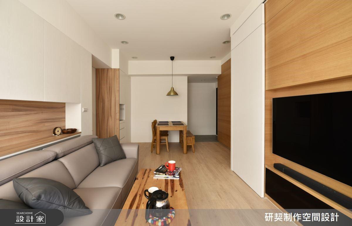 北歐風的極簡、無印風的自然,23 坪木質系居家實踐簡約的理想生活