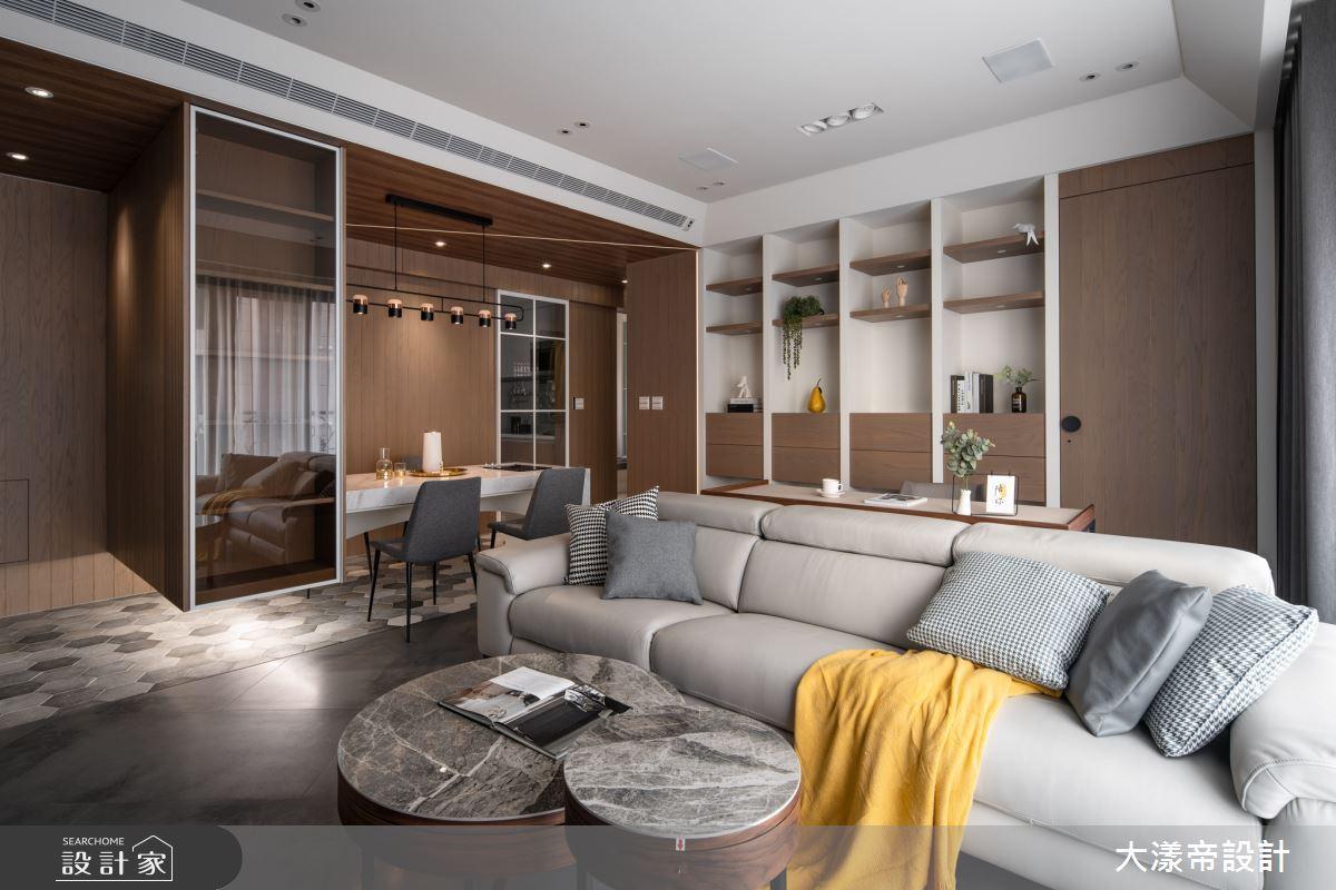 結合木紋與穿透元素 打造紓壓的無印2.0現代風美宅