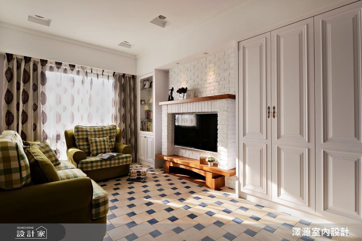 超夢幻美式鄉村宅!復古圓點、跳色花磚讓 30 坪老屋翻新亮麗變身