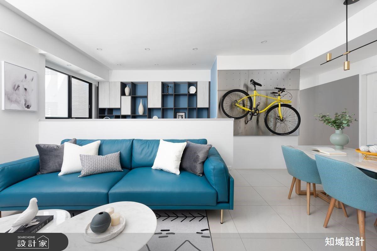 藍天白雲系北歐風!30坪粉藍、湛藍、灰藍的純白美宅