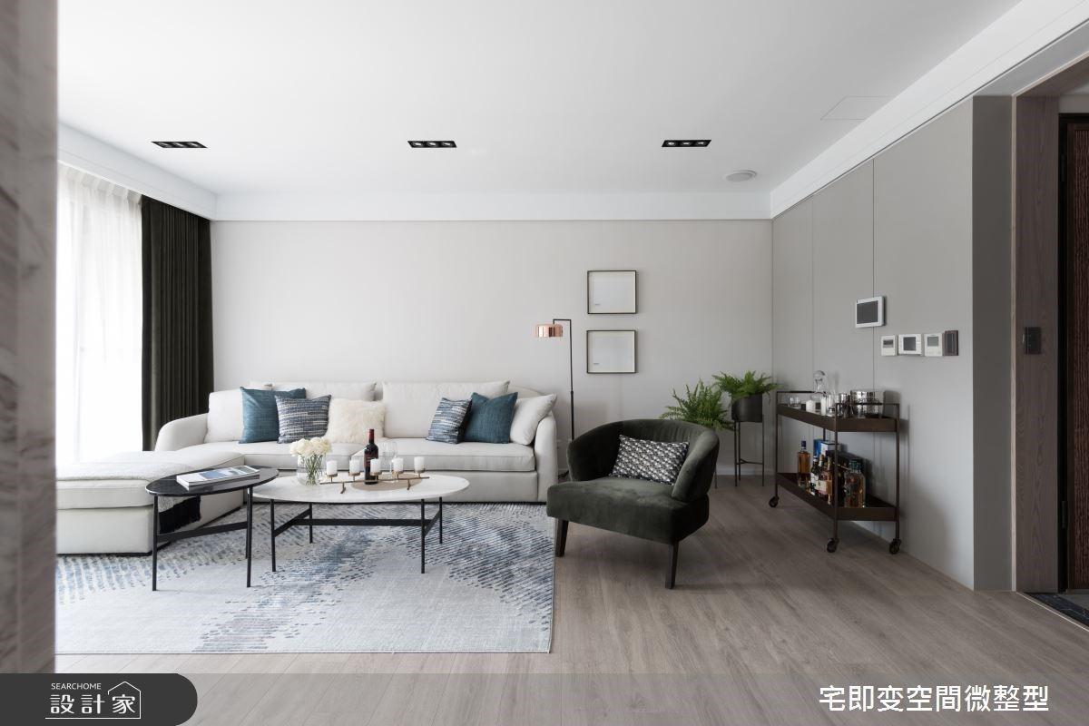 靜謐時尚、優雅光氛,75 坪豪宅輕奢華都會風品味