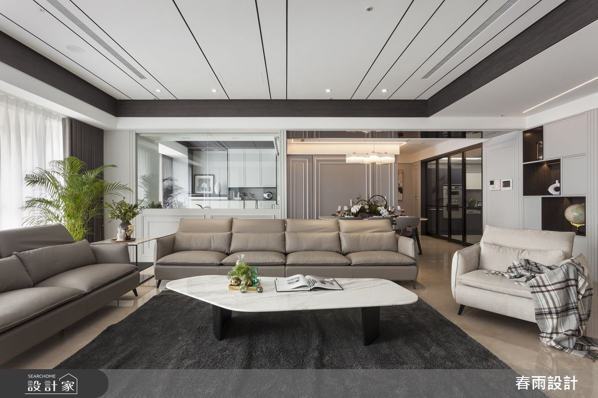 走入時尚境地!用美式風尚、大地色系,打造 86 坪都會豪宅的質感生活
