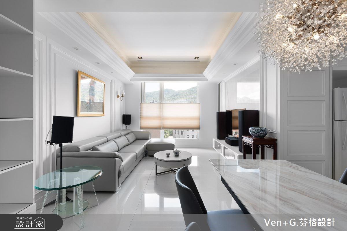 入住 22 坪純白系輕美式家居,絕美窗景詮釋低調奢華退休宅