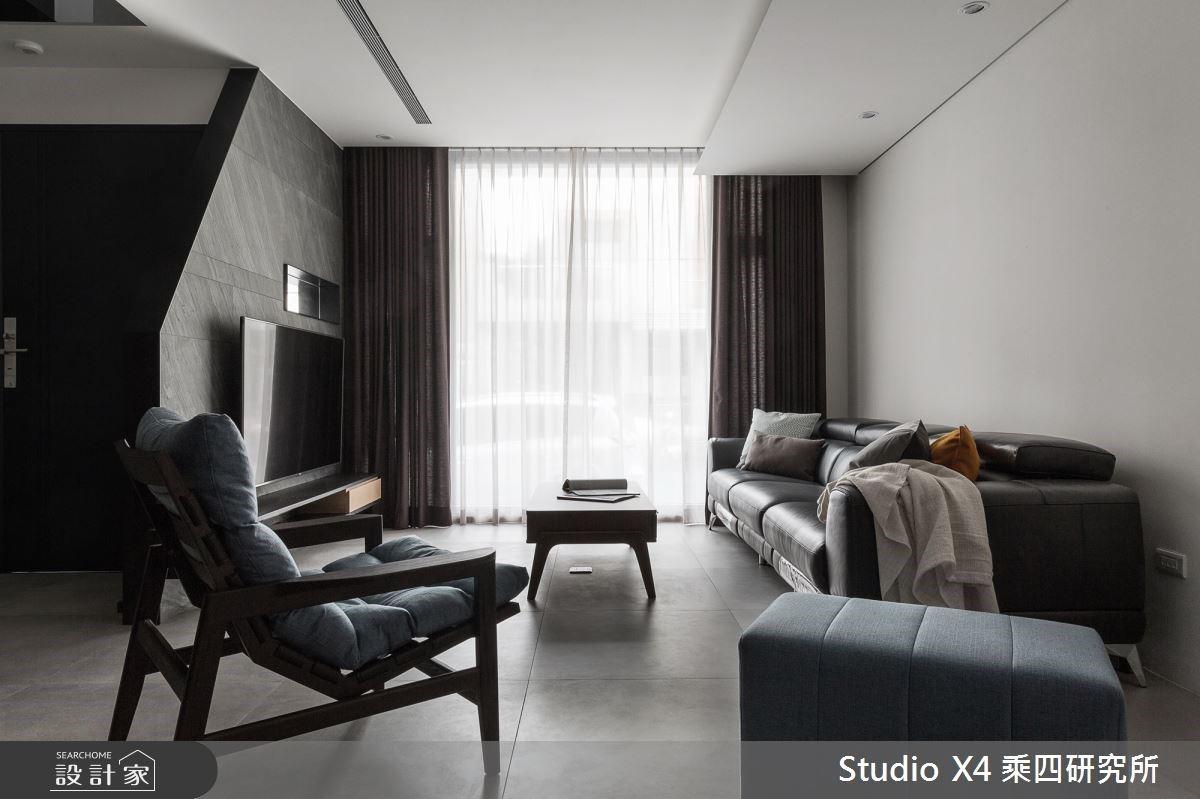 自地自建透天豪宅,110 坪現代工業風的黑白灰系質感美學
