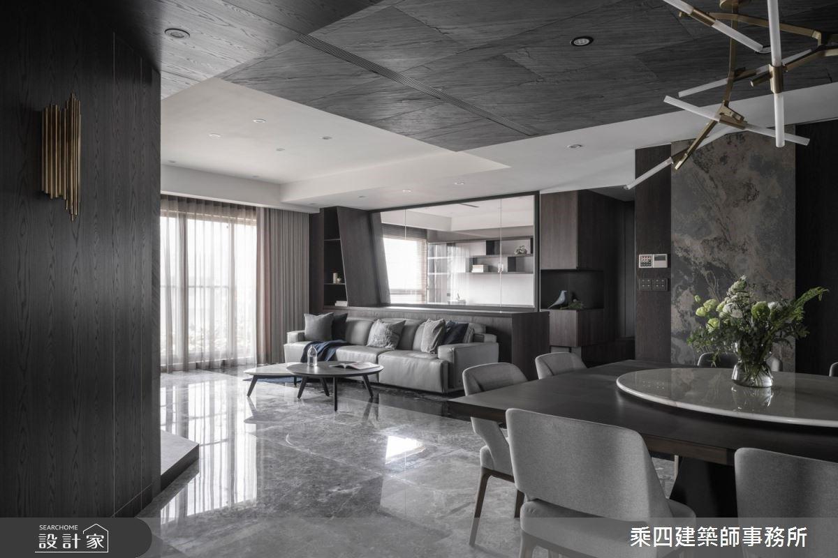 黑與白的空間層次!精緻質材雕塑現代豪宅的磅礴氣勢