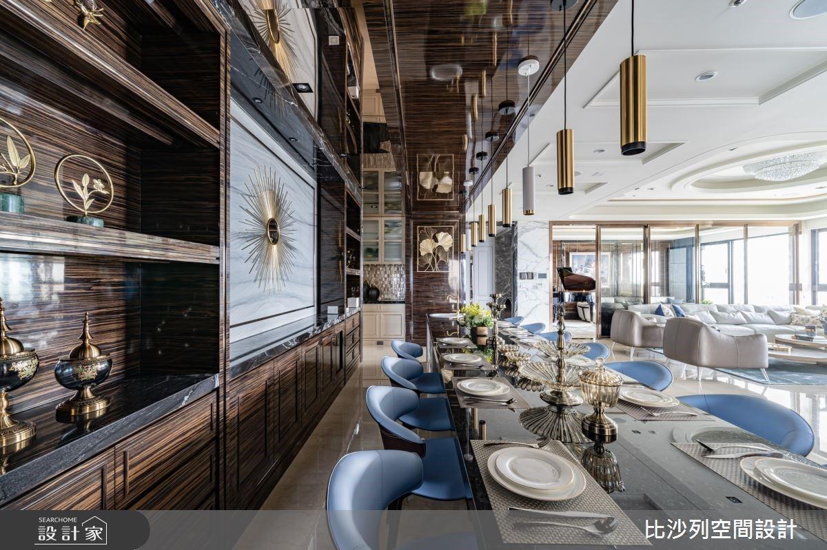 5 米 5 餐桌的新古典豪宅饗宴!英式書房、景觀陽台實現生活場景的不凡夙願